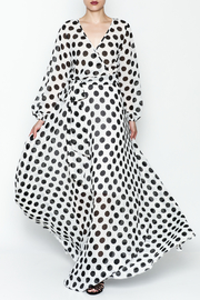 L & C Bold Dot Maxi Dress - Front cropped