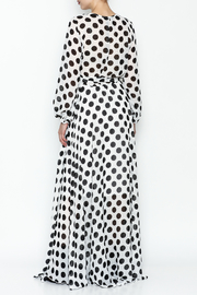 L & C Bold Dot Maxi Dress - Back cropped