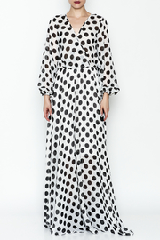 L & C Bold Dot Maxi Dress - Front full body