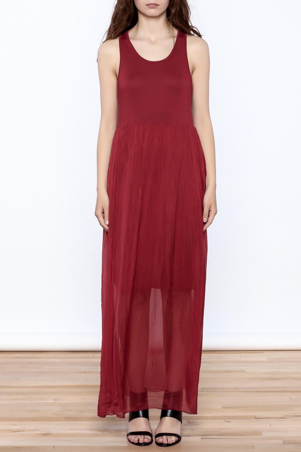 L & C Fashion Silk Maxi Dress - Front Cropped Image