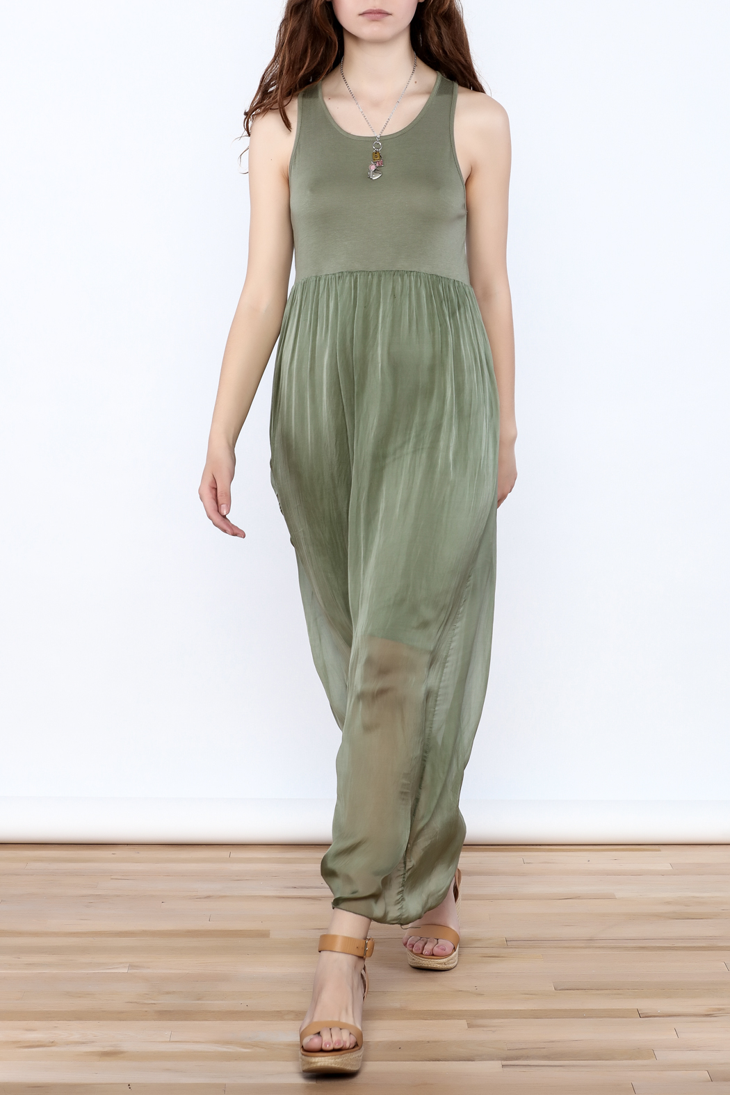 L & C Fashion Silk Maxi Dress - Front Full Image