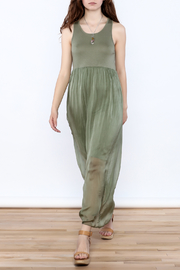 L & C Fashion Silk Maxi Dress - Front full body