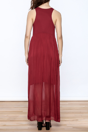 L & C Fashion Silk Maxi Dress - Back cropped