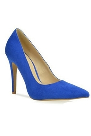 L.A. Shoe King Blue Suede Heel - Product Mini Image