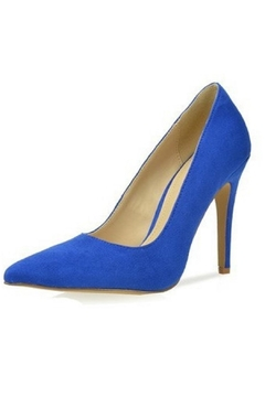 L.A. Shoe King Blue Suede Heel - Product List Image