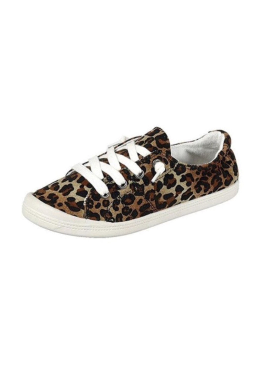 L.A. Shoe King Comfy Canvas Sneaker - Front Cropped Image
