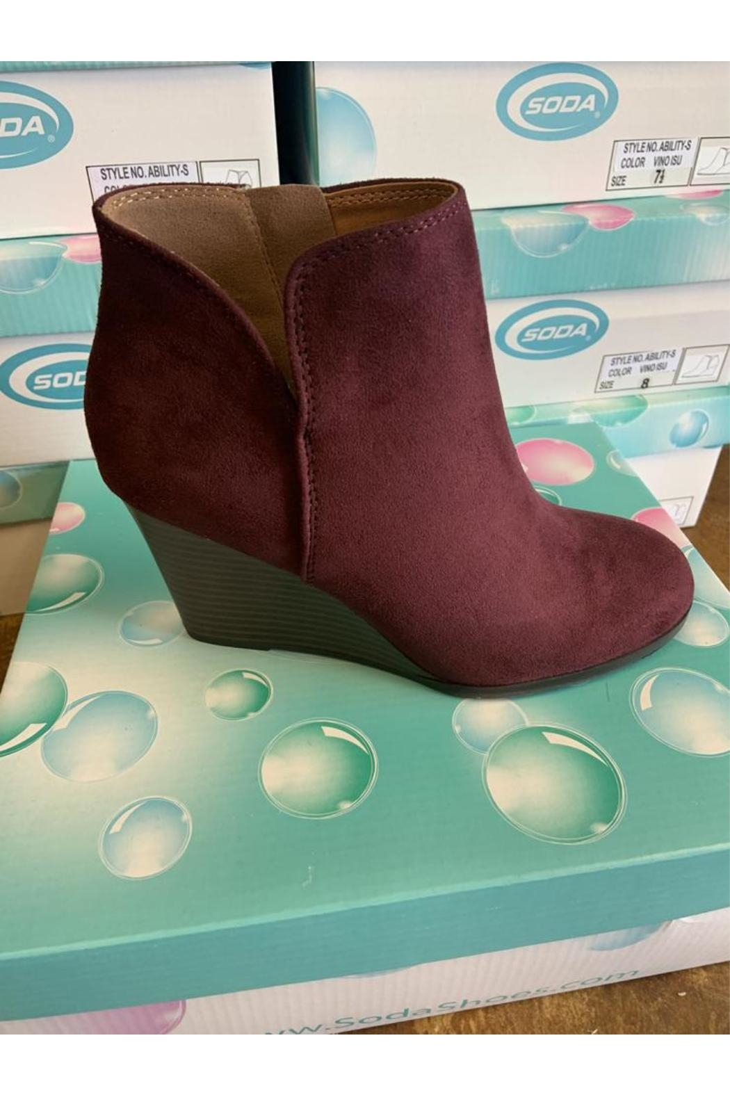L.A. Shoe King Wedge Bootie - Main Image