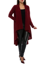 L'adore Draped Front Cardigan - Product Mini Image