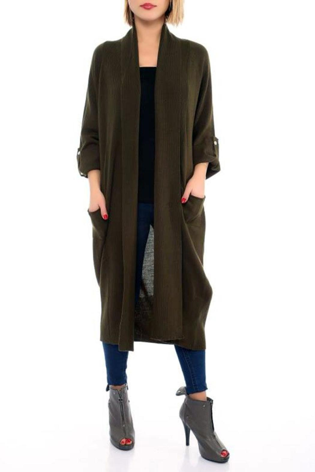 ad69a07e31 L adore Olive Open Front Cardigan from San Francisco by Marvy ...
