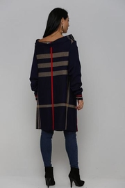 L'adore Plaid Print Cardigan - Front full body