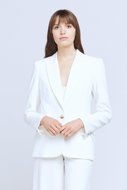 L'Agence Chamberlain Blazer In Ivory - Front cropped