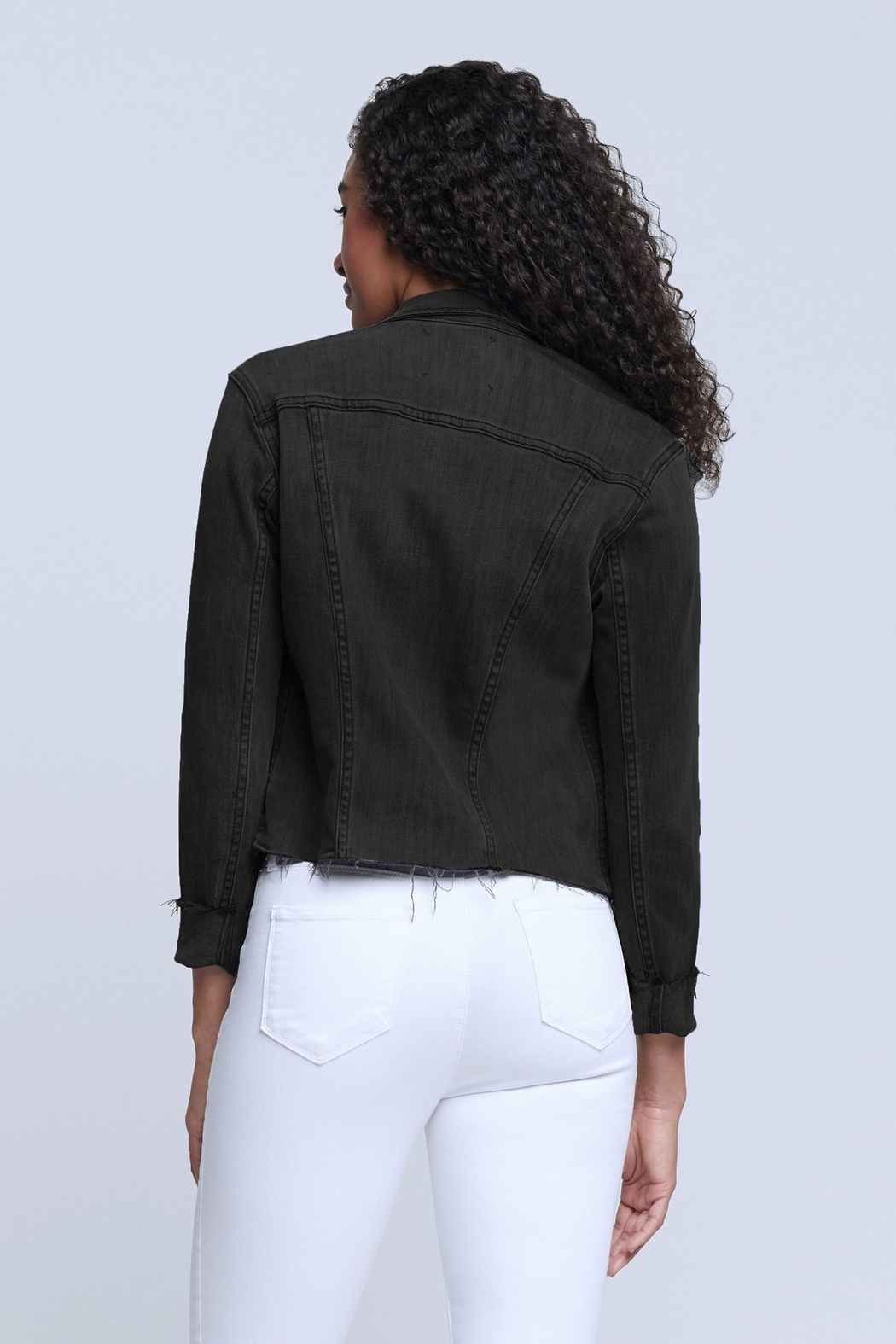 L'Agence Janelle Jacket In Vintage Black - Side Cropped Image