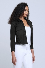 L'Agence Janelle Jacket In Vintage Black - Front full body