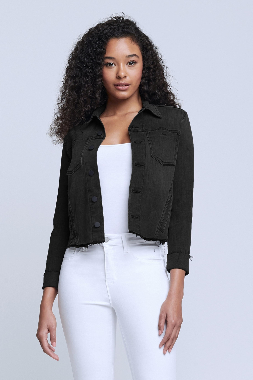 L'Agence Janelle Jacket In Vintage Black - Main Image