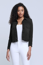 L'Agence Janelle Jacket In Vintage Black - Front cropped