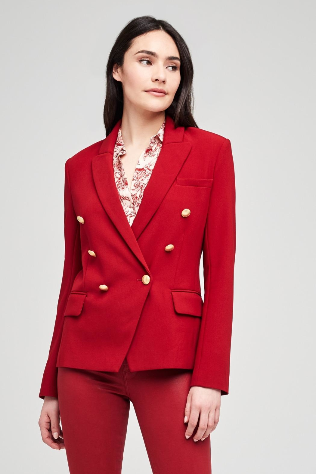 L'Agence Kenzie Blazer - Front Cropped Image