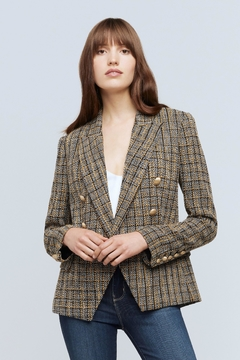 L'Agence Kenzie Tweed Blazer - Alternate List Image