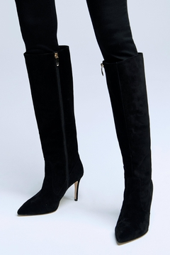 L'Agence Lena Boot Black Suede - Product List Image