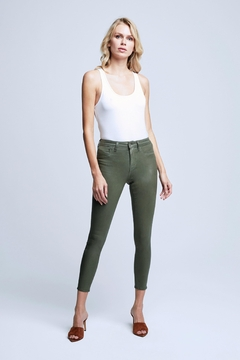 L'Agence Margot Coated Jean Ivy Green - Product List Image
