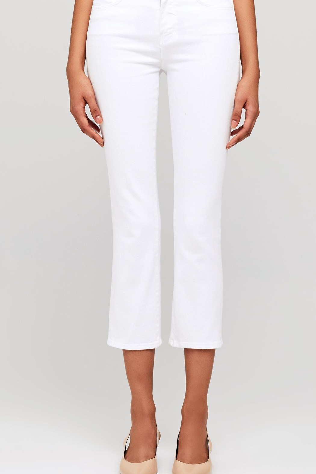 L'Agence Nadia High Rise Crop Straight Jean - Front Full Image