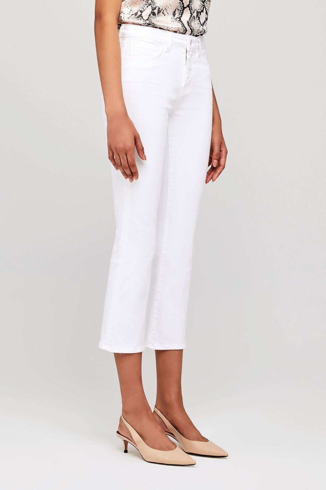 L'Agence Nadia High Rise Crop Straight Jean - Back Cropped Image