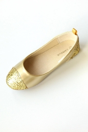 L'Amour Pointed Shimmer Ballerinas - Front cropped