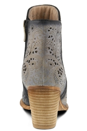 L'Artiste Floral Hand-Painted Bootie - Back cropped