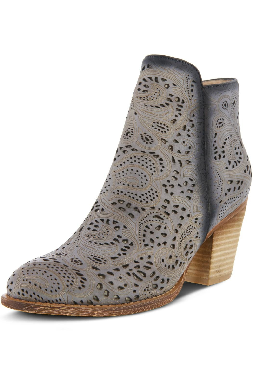 L'Artiste Floral Hand-Painted Bootie - Front Full Image