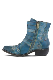 L'Artiste Leather Ankle Boot - Front full body