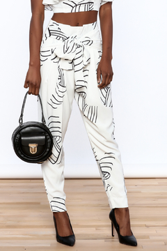 Shoptiques Product: White Abstract Slim Pants