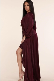 L'atiste Belted Burgundy Maxi - Side cropped