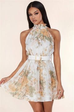 Shoptiques Product: Belted Floral Dress