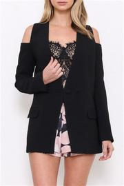 L'atiste Black Textured Jacket - Product Mini Image