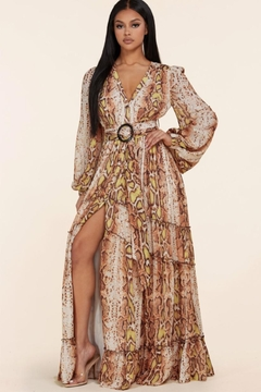 L'atiste Button-Down Snake Maxi - Product List Image