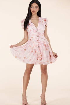 L'atiste Buttoned Floral Dress - Product List Image