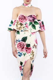 L'atiste Floral Choker Dress - Product Mini Image
