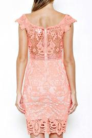 L'atiste Coral Lace Dress - Side cropped