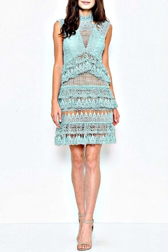Shoptiques Product: Crochet Tiered-Sage Dress