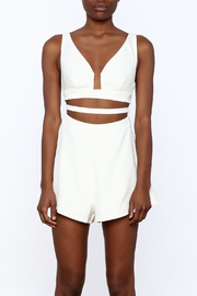 L'atiste White Cut Out Romper - Side cropped