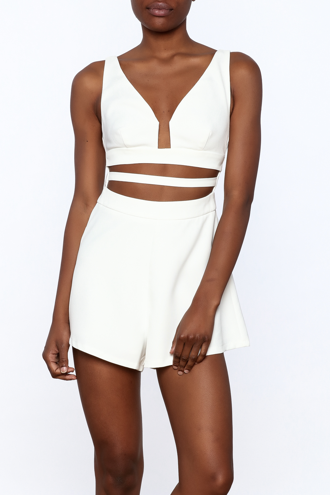 L'atiste White Cut Out Romper - Main Image