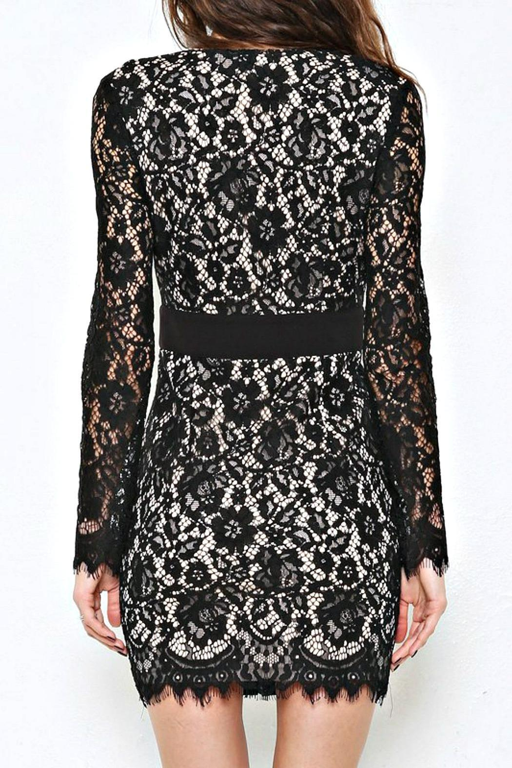 L'atiste Ariana Black Dress - Side Cropped Image