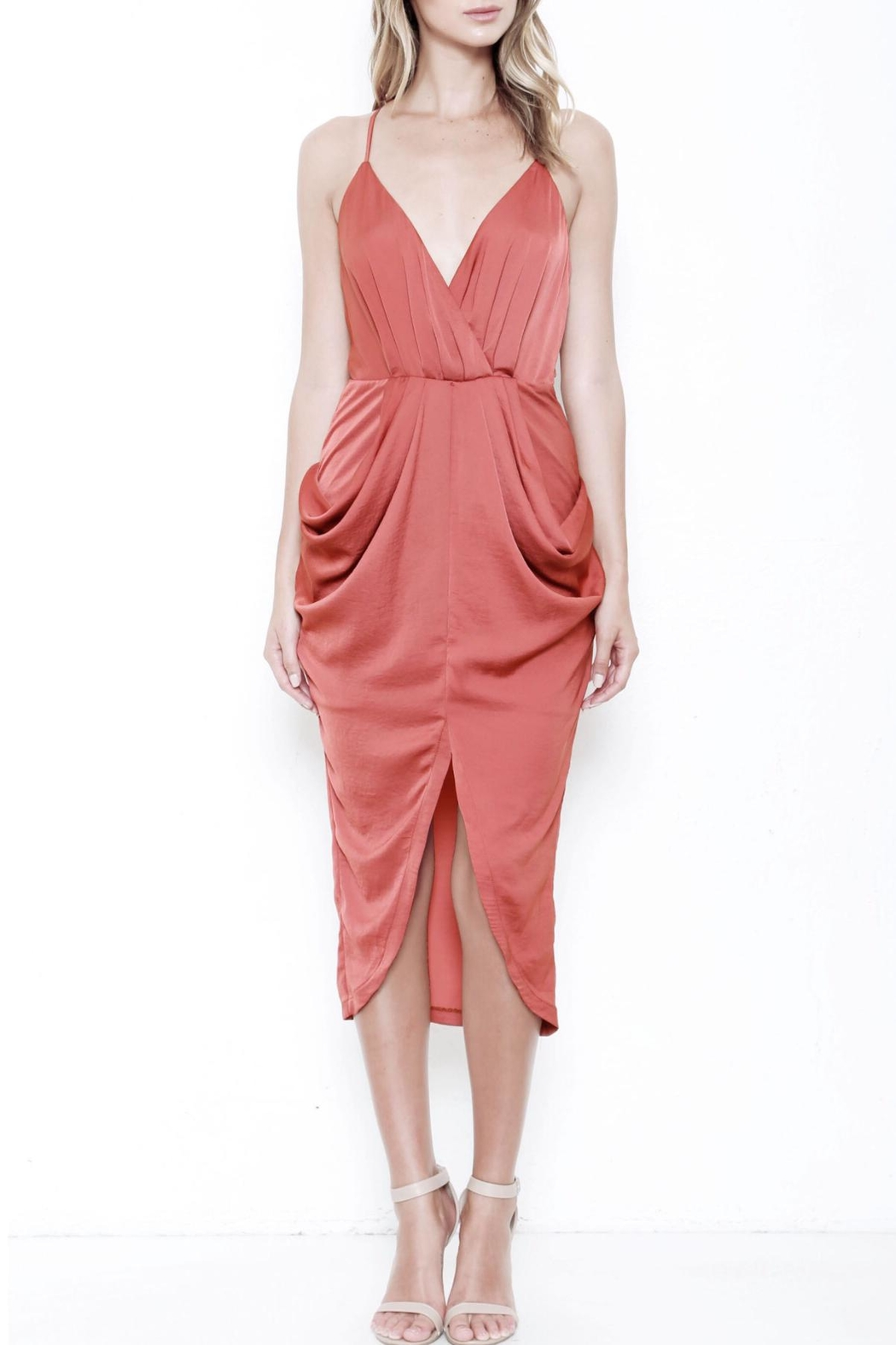 L'atiste Draped Midi Dress - Main Image