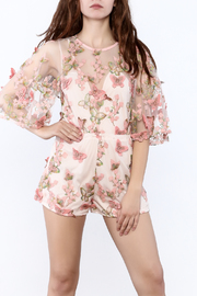 L'atiste Floral Embroidered Romper - Product Mini Image