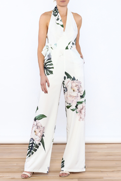 Shoptiques Product: White Floral Jumpsuit