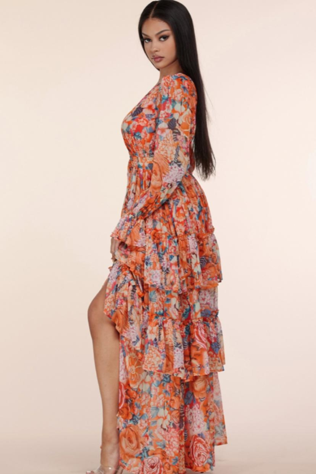 L'atiste Floral Maxi Dress - Side Cropped Image