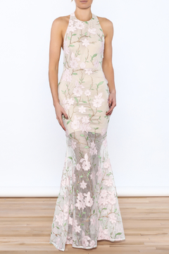 Shoptiques Product: Floral Crochet Maxi Dress