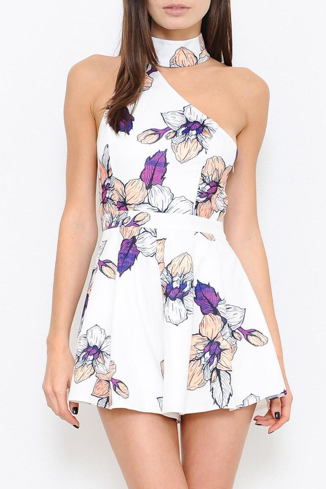 L'atiste Floral Print Romper - Front Cropped Image