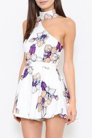 L'atiste Floral Print Romper - Front full body