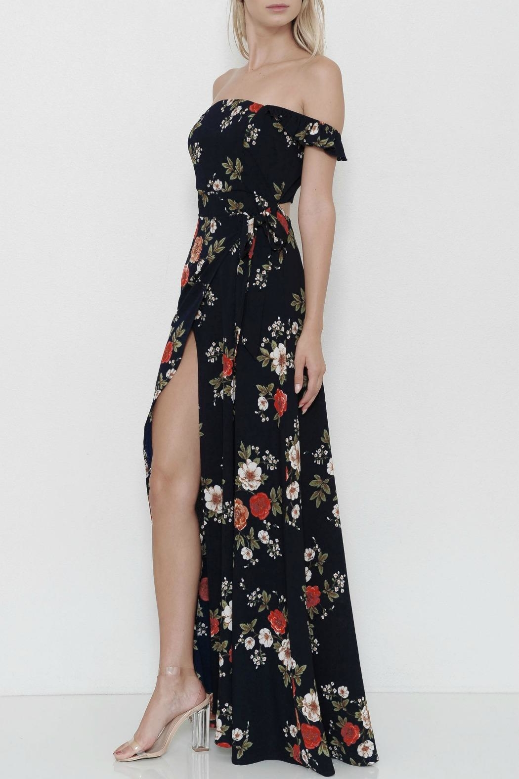 L'atiste Flower Maxidress - Side Cropped Image