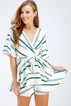 Shoptiques Product: Green Stripe Romper